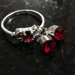 Ring and earrings, Sterling Silver